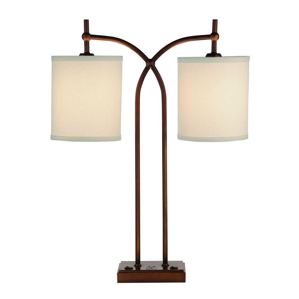 Twoshay Table Lamp With Outlet