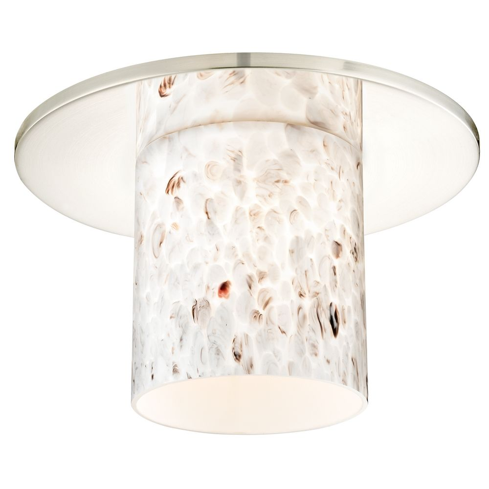 Decorative recessed ceiling trim with art glass cylinder shade aloadofball Images