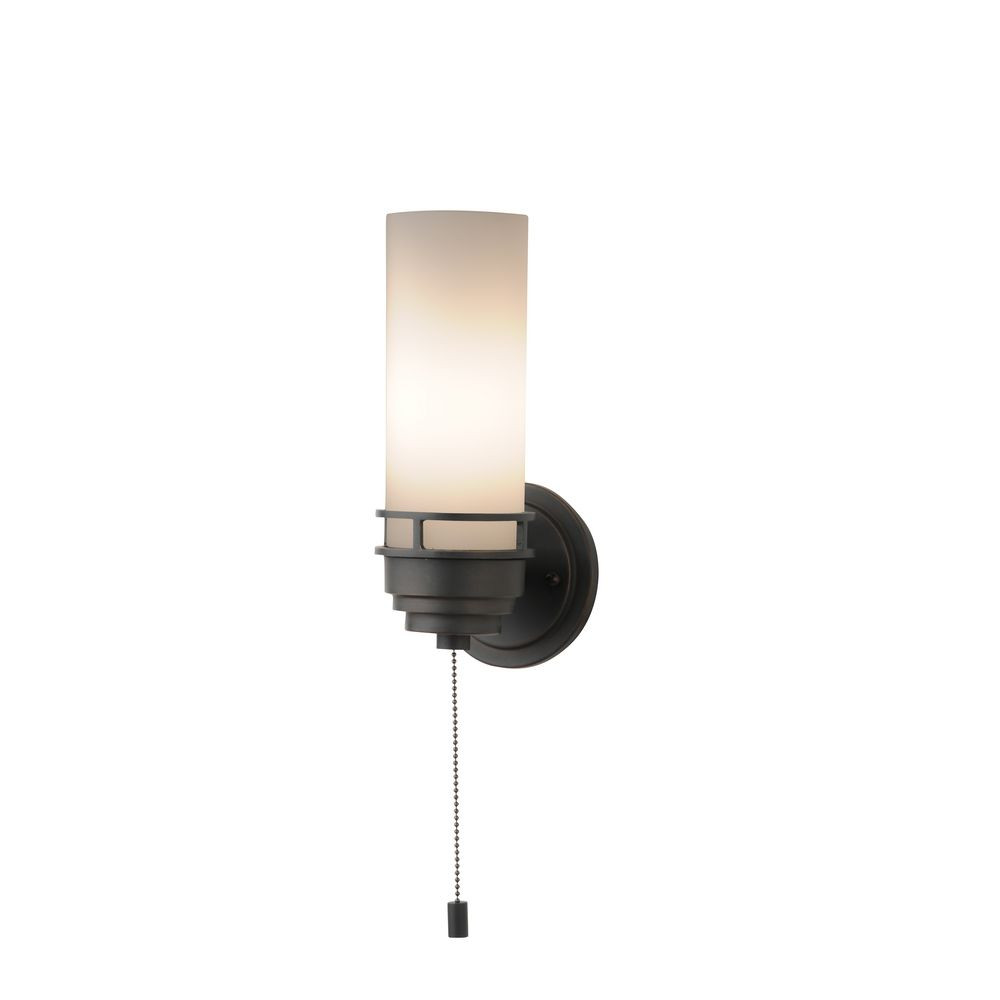 Markham Bronze Sconce with Pull-Chain Switch