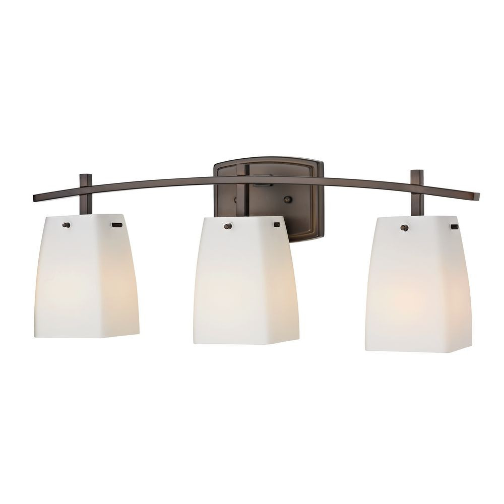 Modern Prairie Three-Light Bathroom Light