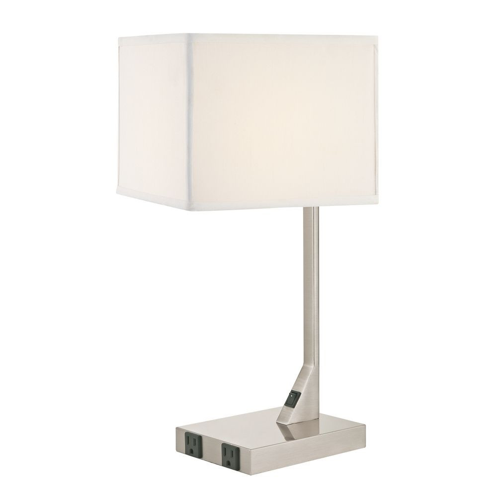 Summit Table Lamp with 2 outlets