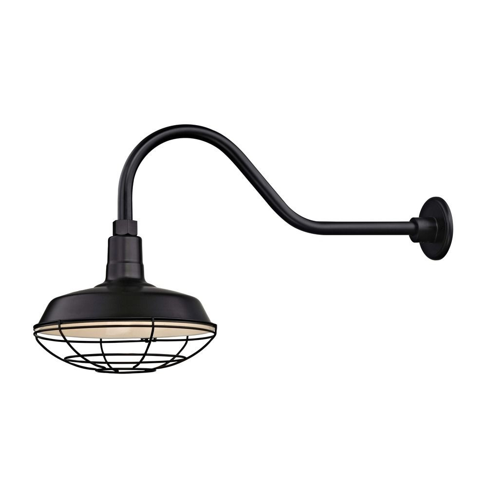Barn Light Outdoor Wall Light Black with Gooseneck Arm 12 ...