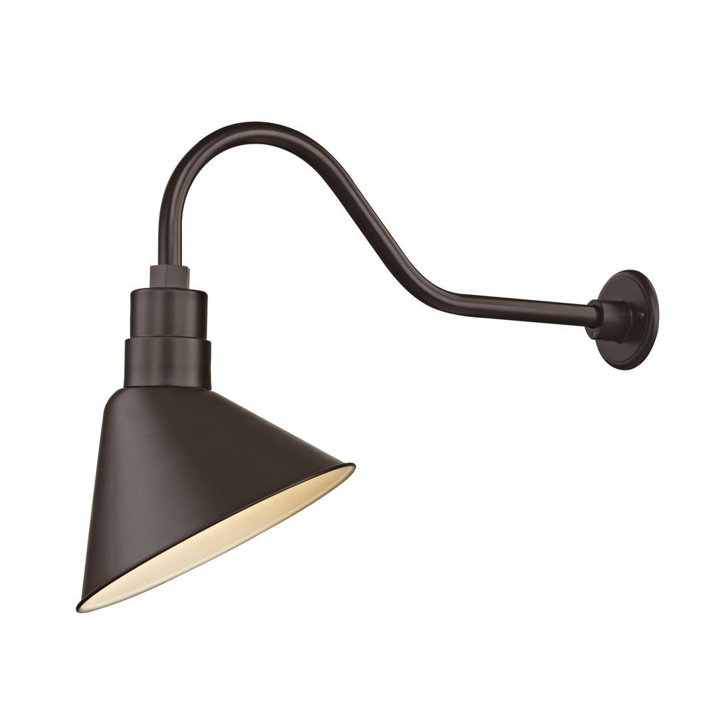 Barn Light Outdoor Wall Light Bronze With Gooseneck Arm 12