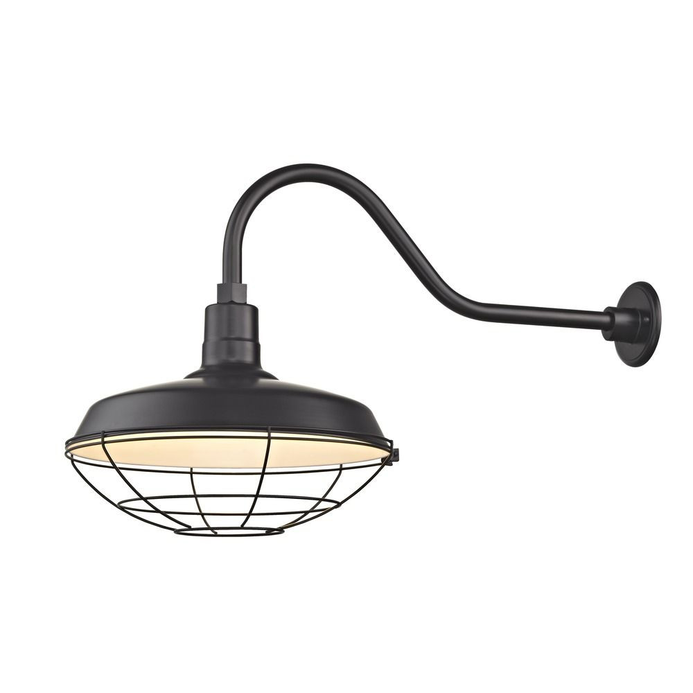 Barn Light Outdoor Wall Light Black with Gooseneck Arm 16 ...