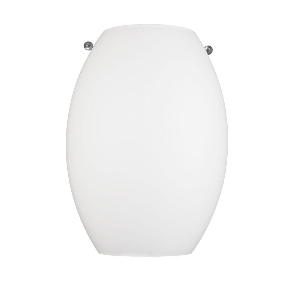 Satin White LED Sconce