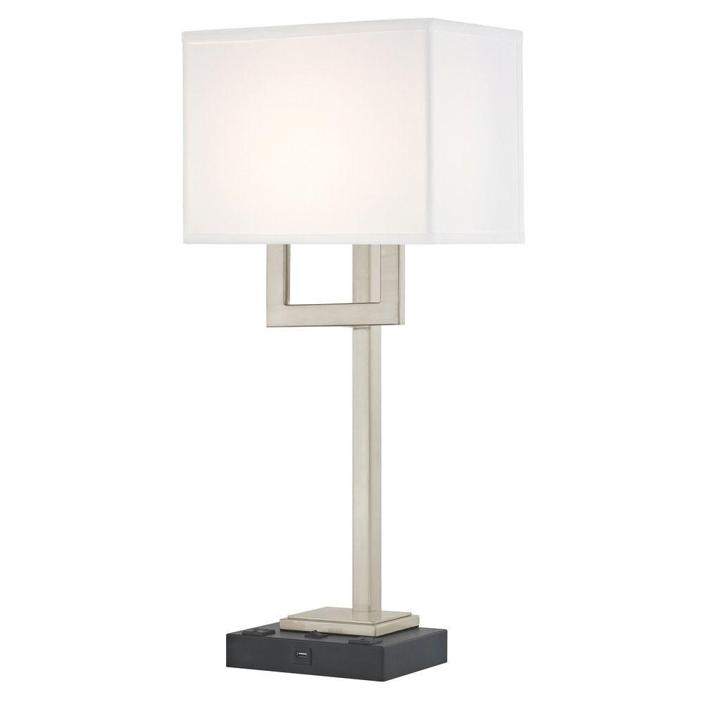 SUMMIT LEDGE LAMP Single Switch with Black Base