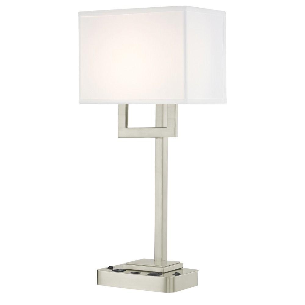 SUMMIT LEDGE LAMP Dual Switching with Satin Nickel Base