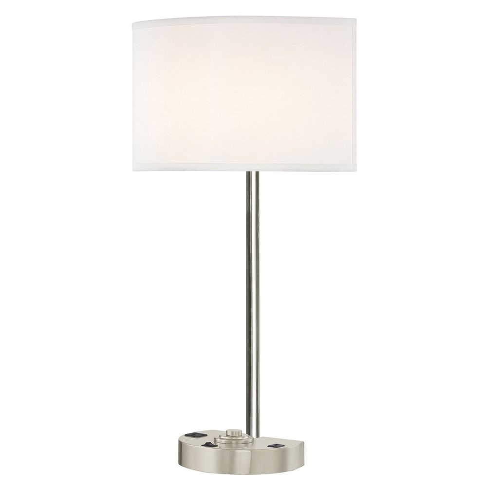SIMPLICITY LEDGE LAMP Single Switch with Satin Nickel Base