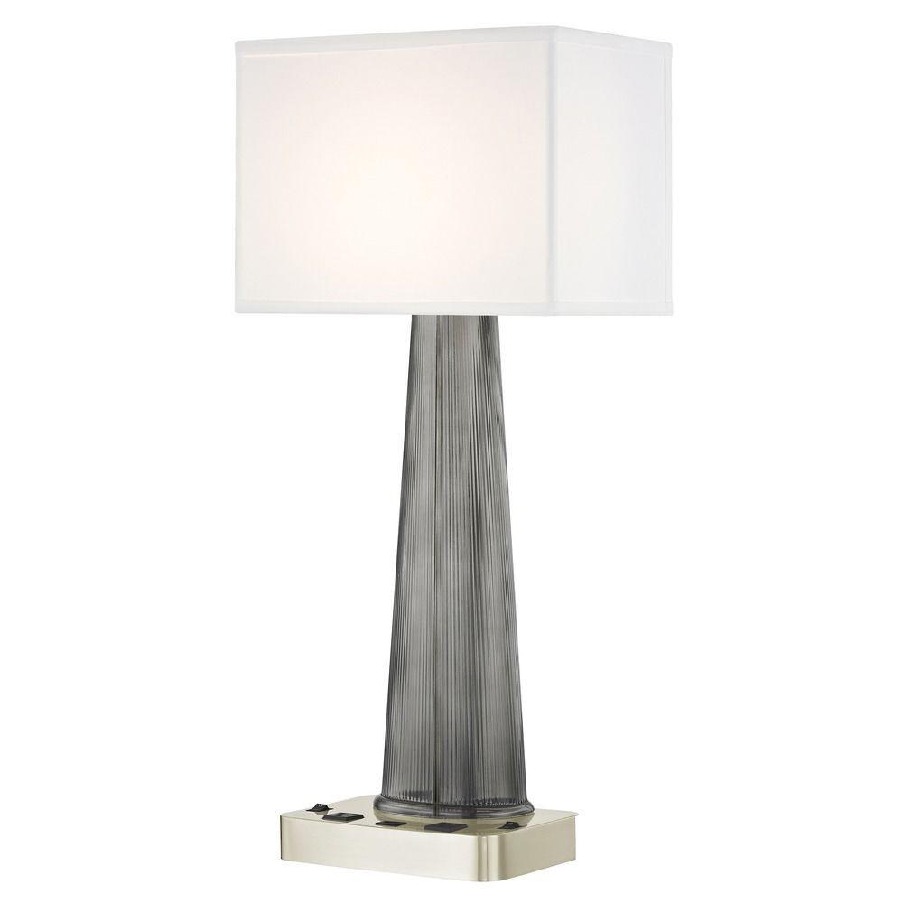 OLYMPUS LEDGE LAMP Dual Switching with Satin Nickel Base