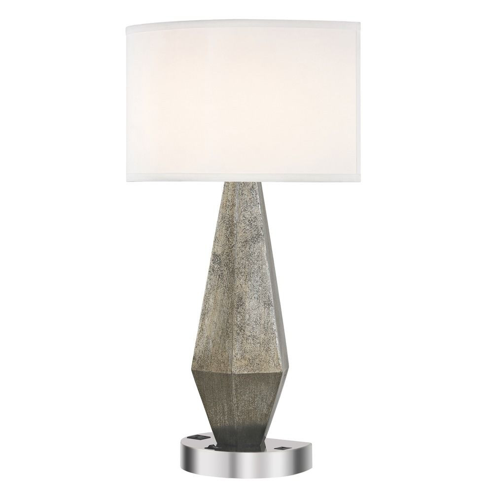 GEO LEDGE LAMP Single Switch with Chrome Base