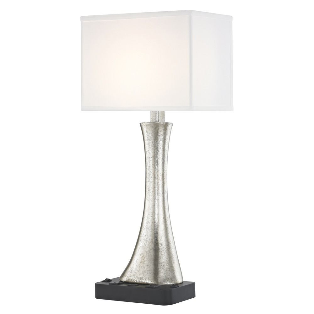 RIO LEDGE LAMP Dual Switching with Black Base and Rectangle Shade