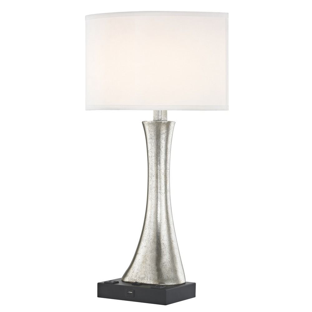 RIO LEDGE LAMP Single Switch with Black Base and Round Shade