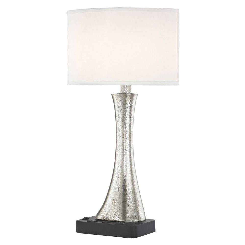 RIO LEDGE LAMP Dual Switching with Black Base and Round Shade