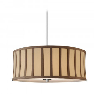 Milo Satin Nickel Drum Pendant Light with Shade