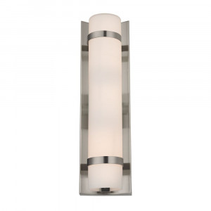 Duo Satin Nickel Bathroom Light - Vertical Mounting Only