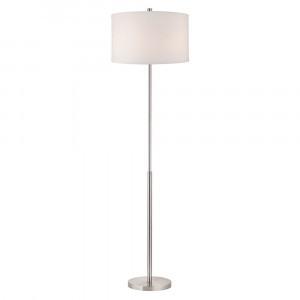 Eli Satin Nickel Floor Lamp