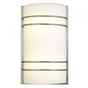LED Modern Sconce Satin Nickel Finish