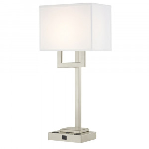 SUMMIT LEDGE LAMP Single Switch with Satin Nickel Base