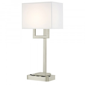 SUMMIT LEDGE LAMP Dual Switching with Satin Nickel Base