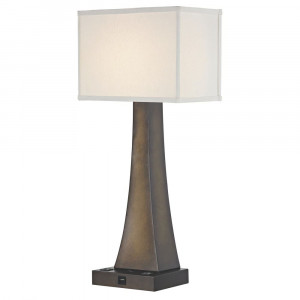 BRISTOL LEDGE LAMP Single Switch with Remington Bronze Base