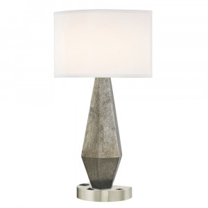 GEO LEDGE LAMP Single Switch with Satin Nickel Base