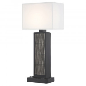 FACET LEDGE LAMP Dual Switching with Black Base