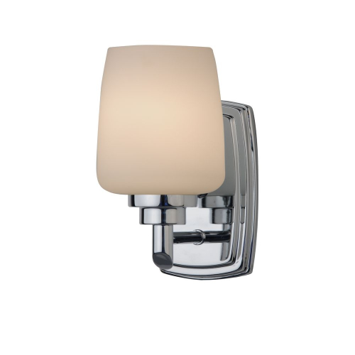 Chamonix Polished Chrome Sconce with Opal White Glass