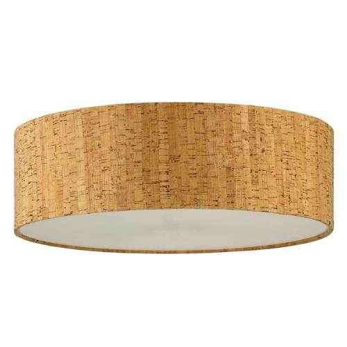 "Cork Drum Shade 16"" x 16"" x 5"""