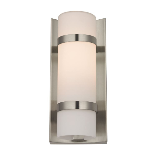 Duo Satin Nickel Sconce