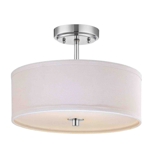 Milo Chrome Drum Semi Flush Light