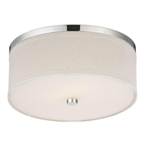 Milo Chrome Drum Flushmount Light