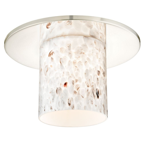 Decorative Recessed Ceiling Trim with Art Glass Cylinder Shade