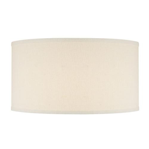19x19x19 Barrel Cream Linen Shade