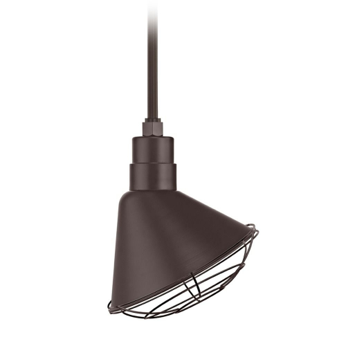 Barn Light Pendant Bronze with 12-Inch Scoop Cage Shade