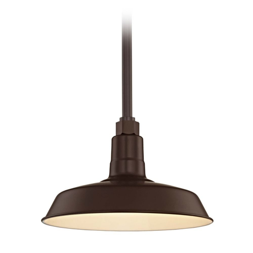 Barn Light Pendant Bronze with 12-Inch Shade