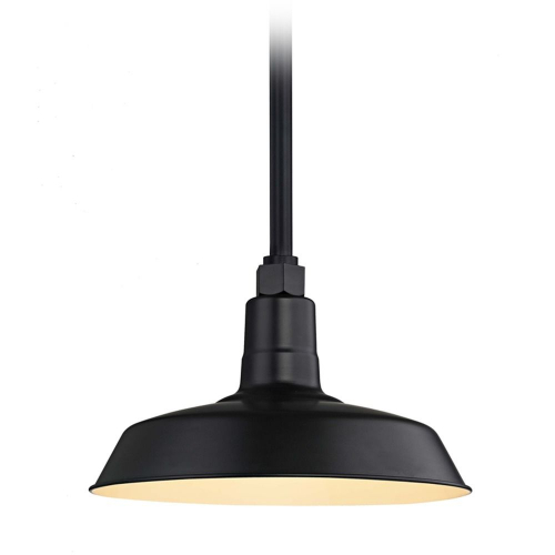 Barn Light Pendant Black with 12-Inch Shade