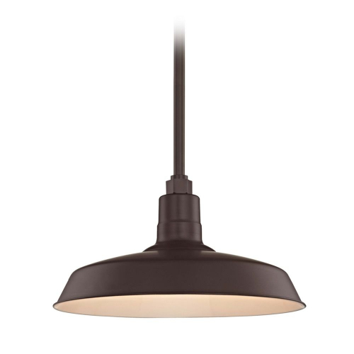 Barn Light Pendant Bronze with 16-Inch Shade