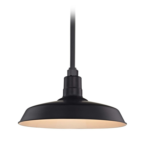 Barn Light Pendant Black with 16-Inch Shade