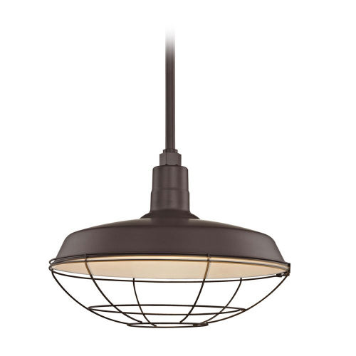 Barn Light Pendant Bronze with 18-Inch Cage Shade