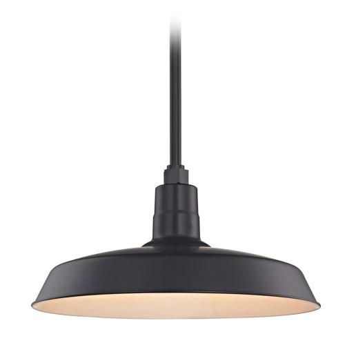 Barn Light Pendant Black with 18-Inch Shade
