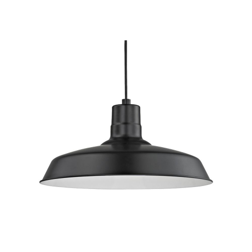 Barn Light Cord Hung Pendant Black with 16-Inch Shade