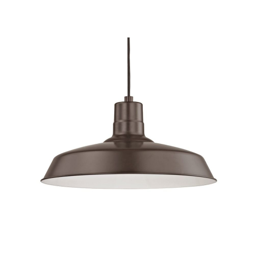 Barn Light Cord Hung Pendant Light Bronze with 16-Inch Shade
