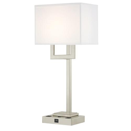 SUMMIT LEDGE LAMP Single Switch with Satin Nickel Base