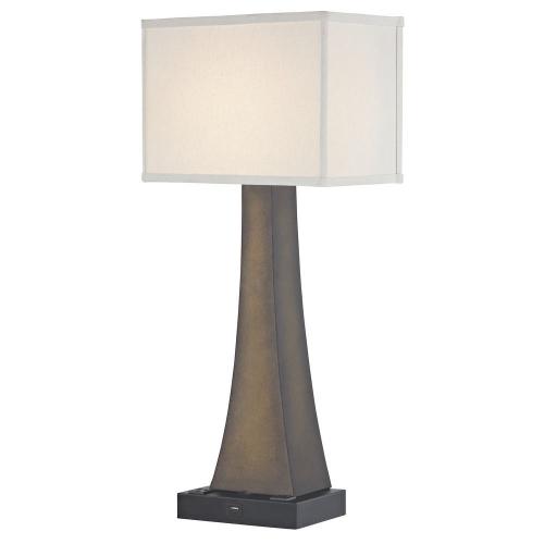 BRISTOL LEDGE LAMP Single Switch with Black Base