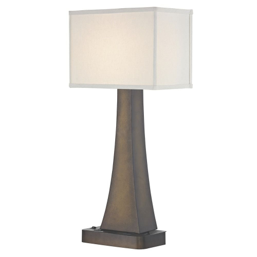 BRISTOL LEDGE LAMP Dual Switching with Remington Bronze Base