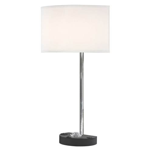 SIMPLICITY LEDGE LAMP Single Switch with Black Base