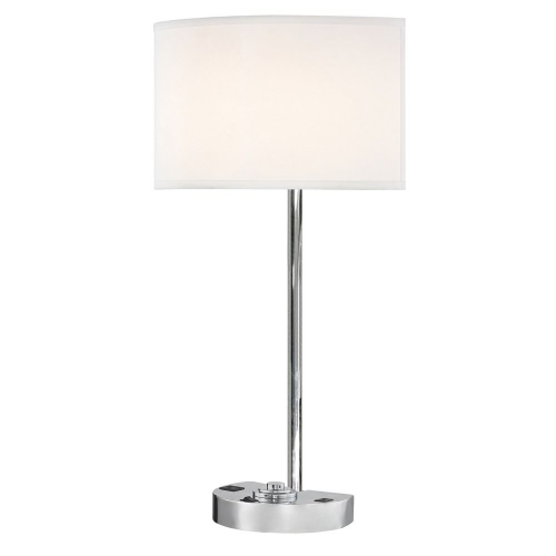 SIMPLICITY LEDGE LAMP Single Switch with Chrome Base