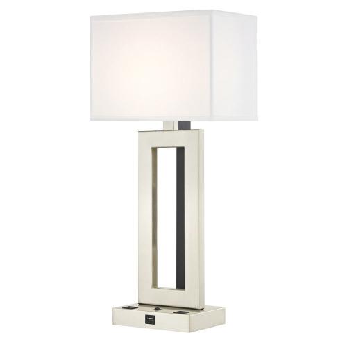 PARAMOUNT LEDGE LAMP Single Switch with Satin Nickel Base
