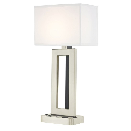 PARAMOUNT LEDGE LAMP Dual Switching with Satin Nickel Base