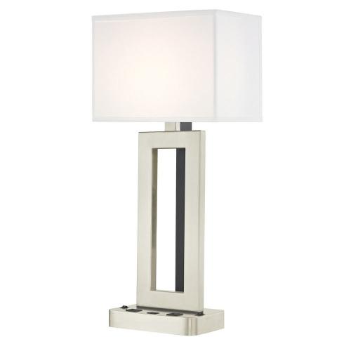 PARAMOUNT LEDGE LAMP Dual Switching with Satin Nickel Base